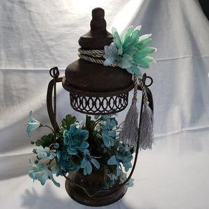 Rustic Metal Lantern Floral Display Hand Designed